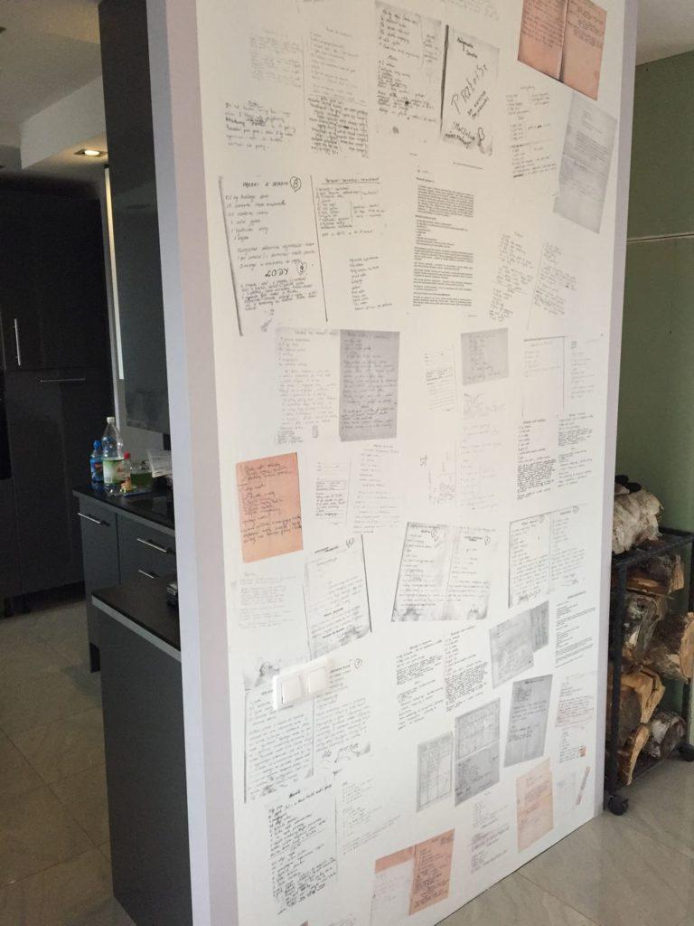 Przepisy mojej mamy na ścianie