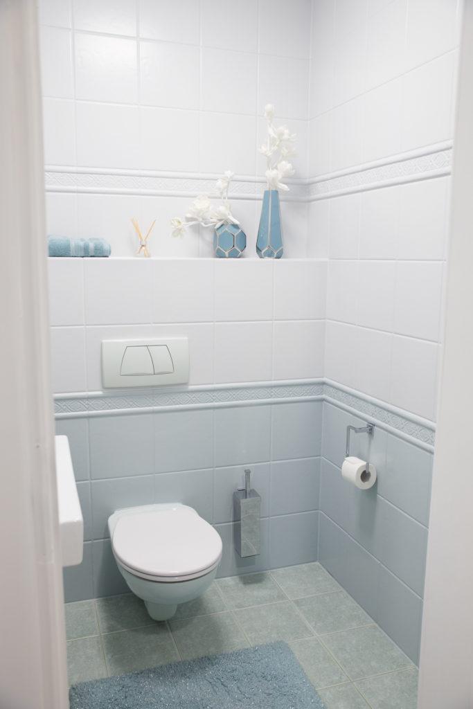 Pastelowa toaleta