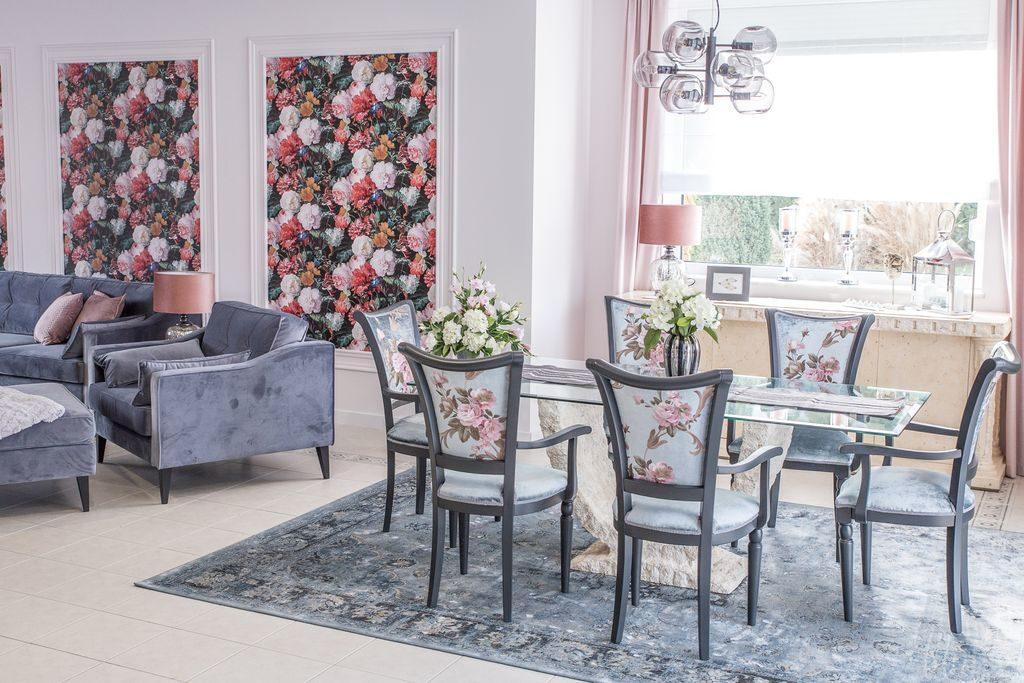 jadalnia z salonem ... kwiaty, kwiaty i jeszcze raz kwiaty